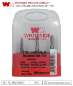 Whiteside Machine Company Solid Carbide Spiral Round Nose RU2075RN