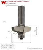 Whiteside Ogee Router Bit