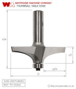 Whiteside Thumbnail Table Edge Router Bit