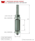Whiteside Flush Trim and Pattern Combination Router Bit