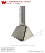 Whiteside Multi Side Glue Joint Router Bit