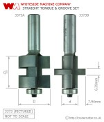 Whiteside Straight Tongue and Groove Router Bit Set