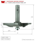 Whiteside 6000C Large Raised Panel Ogee Pattern Router bit