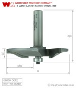 Whiteside 6000H Large Raised Panel Ogee (square reveal) Pattern Router bit