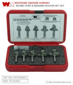 Whiteside Set 502 - Round Over and Bead Router Bit Set