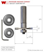 Whiteside Biscuit Jointing Router Bit Kit
