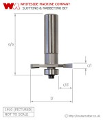 Whiteside Slotting and Rabbeting Router Bit