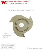 Whiteside Slotting Cutter