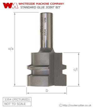 Whiteside Standard Glue Joint Router Bit