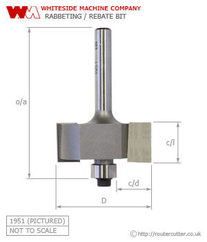 Whiteside Rabbeting Router Bit