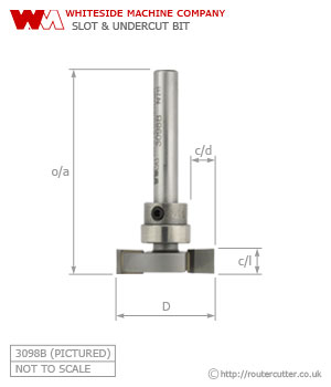 Whiteside Slot and Undercut Router Bit