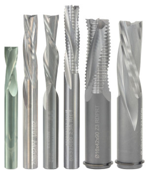 Solid Carbide Metric Shank Spiral Router Bits