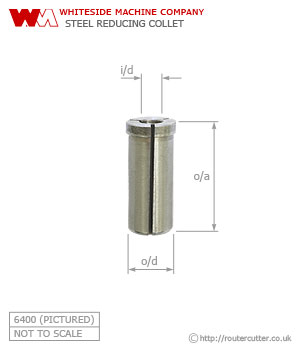 Whiteside Steel Reducing Collet